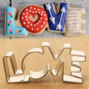 timeracing Lovely Stainless Steel Love Design Cookie Cutter DIY Fondant Cake Mould Baking Mould