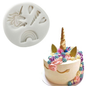 1 Pcs Monocerus Unicorn Horn/Head Chocolate Mould Silicone Fondant Moulds for Soaps Candy Chocolate Gummies Clay Making Cake Moulds Baking Tools DIY Decorating Mould Shape Mould