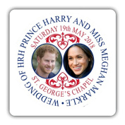 Prince Harry and Meghan Markle Royal Wedding Commemorative Wooden Coaster
