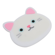 HENGSONG Cute Cat Cup Coasters Mats Silicone Mug Rest for Wine Glass Tea Coffee Home House Kitchen Decor