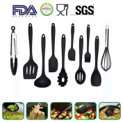 10 pcs Silicone Utensils Set, Heat-Resistant, Non-Stick, Safety Health, Silicone Baking Tool Sets
