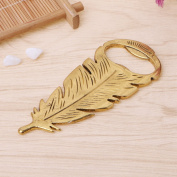 Jiamins Golden Peacock Feather Bottle Opener Wedding Party Favour Guests Gift