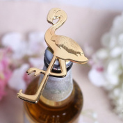 Jiamins Golden Flamingo Beer Bottle Opener Soda Cap Opening Tool Wedding Party Favour