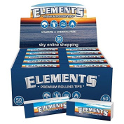 10x booklets Elements Rolling Filter Tips Roaches Roach Paper Card Chlorine Chemical Free