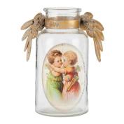 Clayre & Eef 6GL1536 Decorative Glass Bottle Wings 16 x 8 x 16 cm