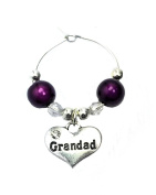 Grandad Wine Glass Charm with Gift Card Handmade by Libby's Market Place - From UK Seller
