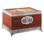 Royal Selangor Hand Finished Leaf Dominica Collection Pewter Leaf Humidor