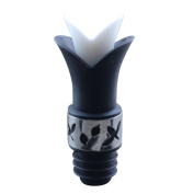 Wine Pourer and Stopper, Turkey Silicone Lily Flower Shape Bottle Cork for Wine Tasteless Nontoxic Pourer