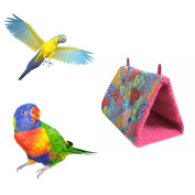 Smdoxi Pet Bird Nest Hammock Hanging Cave Cage Plush Snuggle Happy Hut Tent Bed(Not Include Hanging Rope)