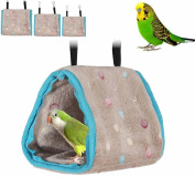 Zeroyoyo Plush Hut Hammock Hanging Cave Cage Snug Tent Bed Bird Parrot Hamster Bunk Toy Snuggle