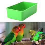 Itemap Food Water Plastic Bowl Cups Bird Pigeons Cage Sand Cup Feeding