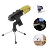 USB Condenser Microphone Mic + Stand Studio Sound Recording Broadcast Holder