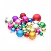 36pcs/set Christmas Tree Ball Hanging Type Home Ornament Wedding Decoration