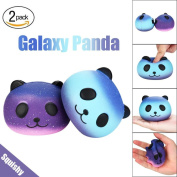 2PCS Galaxy Panda Cute Scented Squishies ,New Jumbo Squishies Toys Slowly Rising Decompression Squeeze Toy Stress Relief Squishy Cream Scented Kawaii Cute Silly Squishies by MORWIND