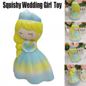 Jumbo Slow Rising squishies Toys,Sefter 14cm Squishy Wedding Puff Skirt Dress Princess Girl Squeeze Cream Scented Decompression Toys by MORWIND
