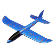 Simulation Throwing Aircraft Toy Parent-child Outdoor Sport Toys-Blue