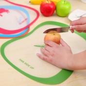 Plastic Chopping Board Sets,VNEIRW Round Clear Non Slip Kitchen Worktop Cutting Board Chopping Board (Colour Random, Size