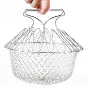 Bureze Foldable Steam Fry French Chef Basket