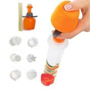 Bodhi2000® 6pcs Plastic Cake Cookie Vegetable Fruit Shape Cutter Slicer Veggie Mould Set DIY Decorating Tools