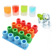 Creative Ice Cube Shot Glass Freeze Mould Maker Silicone Tray Party Cup