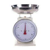 RETRO DESIGN KITCHEN SCALE   white, up to 3 kg, metal   analogue cooking scale