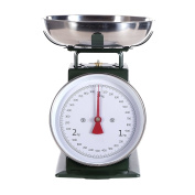 RETRO DESIGN KITCHEN SCALE   green, up to 3 kg, metal   analogue cooking scale