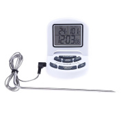 Amazingdeal LCD Probe Meat BBQ Grill Kitchen Folding Digital Roasting Timer Thermometer