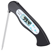 ROKOO Instant Read Digital Food Thermometer with Magnet Collapsible Probe BBQ Grill Kitchen Tool
