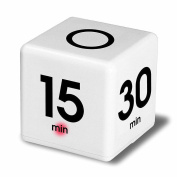 The Miracle Cube Timer with 5, 15, 30 and 60 Minutes,Clock Timer Alarm Cube Digital for Time Management, Kitchen Timer, Kids Timer, Workout Timer, Time Management White