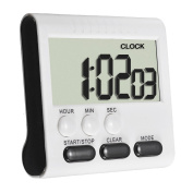 NiceButy 1Pcs Mini Digital Magnetic Kitchen Timer Count Timer With Large LCD Screen