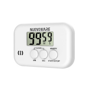 Nuovoware Digital Kitchen Timer, Digital Countdown Kitchen Timer Cooking Timer with Large Digits, Loud Alarm and Strong Magnetic Backing, Minute Second Count Up and Countdown, White