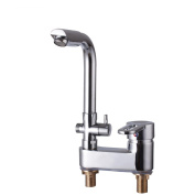 ZGBZZ Brass, double-edge double-use, hot and cold basin faucet, basin faucet plus shower faucet, double control double-hole faucet, switch bath and wash