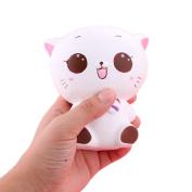 Squishy Kitty Cat Doll Slow Rising Soft Pinch Toys ,SEWORLD Key Chain Phone Charm