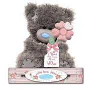 Me to You - 18cm Mum Teddy - If Mums' were flowers I'd pick You - Holding Flower
