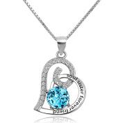 Korliya Sterling Silver Soul Sister Forever Friend Heart Necklace Pendant