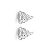 Yiwa Creative Alloy Oil Drip Poop Emoji Face Ear Studs Simple Earrings as Gifts