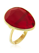 Cordoba Jewels | Gold-Plated 925 Sterling Silver Ring. Luxury Ruby Gold Design
