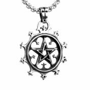 JMILYDFK Titanium Steel Necklace Chain Five-pointed Star Pendant Necklaces