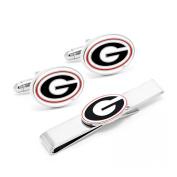 University of Georgia Bulldogs Cufflink and Tie Bar Gift Set