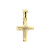 Gold Polished Cross Pendant in 14 carat yellow gold pendant chain pendant jewellery 2853