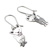Chihuahua Dog 925 Silver Drop Earrings