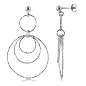 Cordoba Jewels | Earrings in 925 Sterling Silver with Circles Design