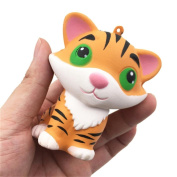 Stress Relief Toy Stress Reliever Squishy Slow Rising Cute Tiger Kawai Hand Exerciser Fidget Toy Great Gift for Girlfriend Children Birthday Gift Present Pull Push Toy Gag Toy Minature by MORWIND