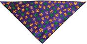 Mirage Pet Products Mardi Gras Fleur De Lis Tie-On Pet Bandana, Large