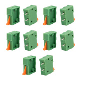 10pcs KF141R 150V 2A 2.54mm Pitch 1P Spring Terminal Block for PCB Mounting