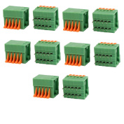 10pcs KF141R 150V 2A 2.54mm Pitch 5P Spring Terminal Block for PCB Mounting