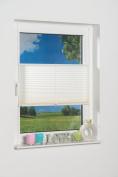 K- Home Klemmfix Plissee Palma 85 x 130 cm (W x L), Polyester, cream, 130 x 85 cm