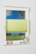 K- Home Klemmfix Plissee Palma 45 x 130 cm (W x L), Polyester, green, 130 x 45 cm