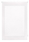 blindecor Specks Roller, Fabric, White Pink, 110 x 180 cm