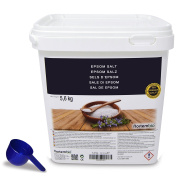 Epsom Salt NortemBio 5,6kg, Concentrated source of Magnesium, 100% Natural Salt. Bath and Personal Care.